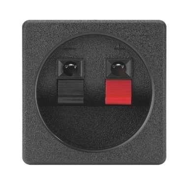 Lautsprecherterminal klebbar ECKIG 56x56mm ST950