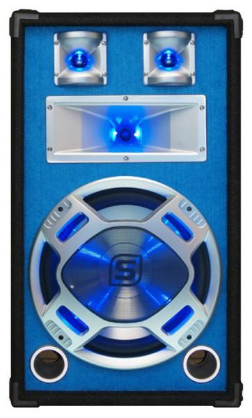 600W Lautsprecherbox 8Ohm Partybox 3wege 12zoll Bass mit Hochtonhorn