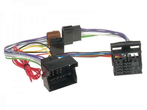 Autoradio Adapter Quadlock auf ISO Stecker zu AUDI SEAT GOLF usw PARROT Freisprecheinrichtung
