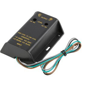 HighLevel Pegeladapter Lautsprecher Out auf Cinch Input