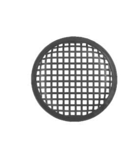 Lautsprechergitter Stollengitter Abdeckung 155mm Schwarz