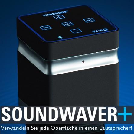 SOUNDWAVER Plus Bluetooth Lautsprecher für SmartPhone und Tablet