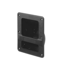 Griffschale aus Kunststoff zum einbauen 210x166mm Schwarz