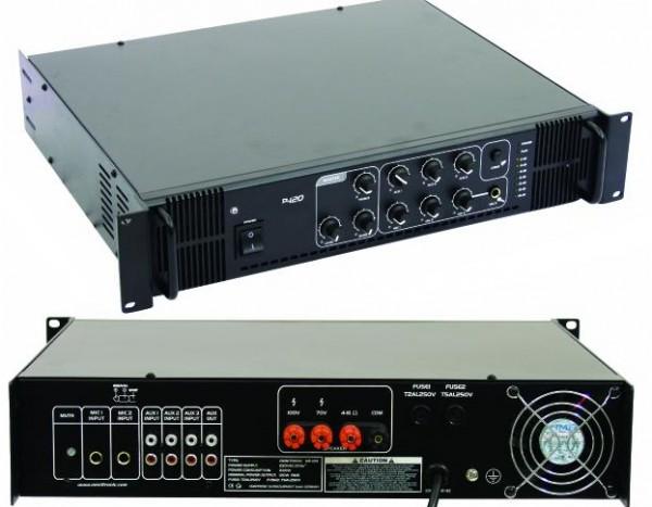 ELA Verstärker 100W 6Eingänge 100V 4-8ohm MPS060 230VAC
