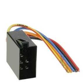 Autoradio Adapter ISO Stecker mit leeren Kabelenden 10cm