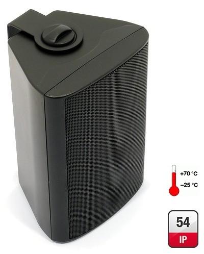 WB10 Wandlautsprecher 8ohm + 100V tauglich 60W Schwarz mit Leistungsregler