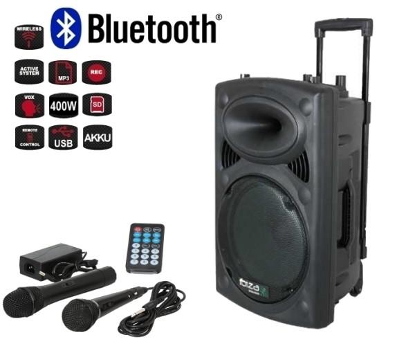 Mobile Musikanlage Beschallungsanlage mit MP3 Player USB 1xFunkmikro 400W Bluetooth