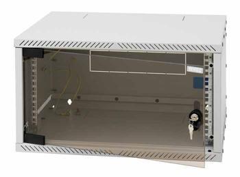 Rackschrank 19zoll 6HE mit Glastüre LAN Schrank EDV Schrank