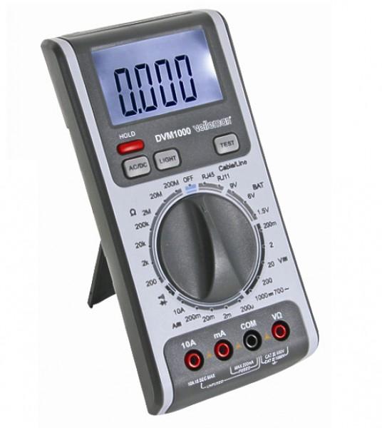 Profi Messgerät mit Prüfkabel DVM1100
