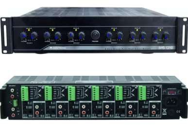 12Kanal Verstärker mit 12x50W 4-8ohm+100V MP1250 Multiroom