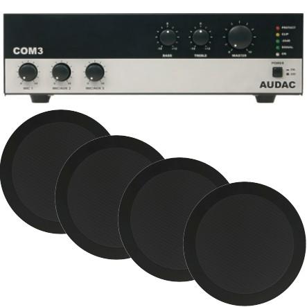 Durchsagesystem für Praxen und Büros 4 Lautsprecher mit Verstärker