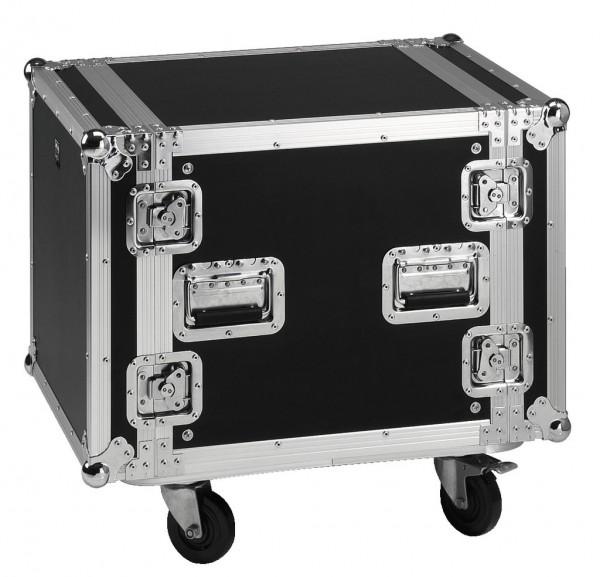 Flightcase 19zoll Rack mit 2 Deckel 10HE mit 4 Rollen