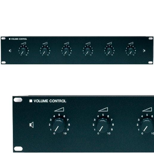ELA Lautstärke Regler 6-fach 6x100/150 Watt 19zoll
