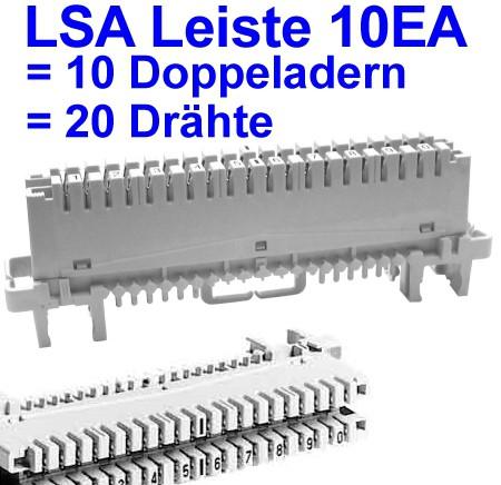 Anschlussleiste LSA 10EA für 20-Drähte