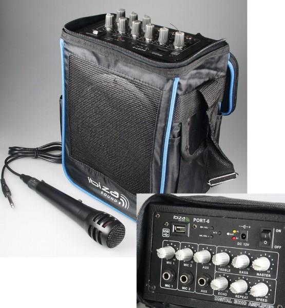 Mobile Musikanlage Beschallungsanlage mit USB MP3 Player