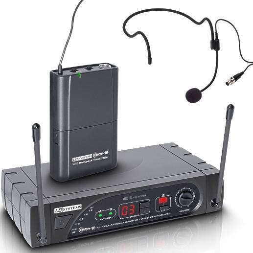 Funkmikrofon Set ECO16 Funkempfänger mit Headset Mikrofon