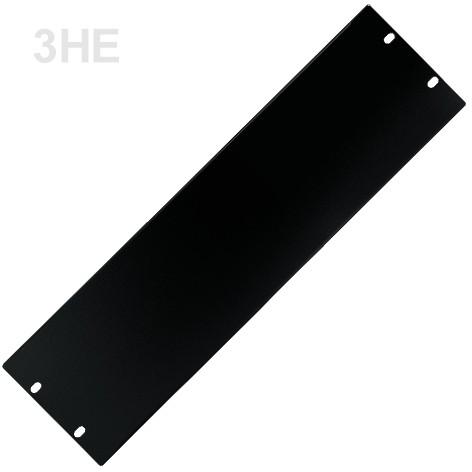 3HE Rackblende Blindplatte Stahl 483x132mm Schwarz