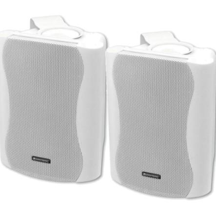 Lautsprecherboxen C50 2x80W mit Bügel Weiss