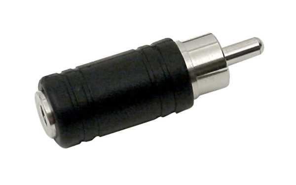 Adapter Cinchstecker auf 3,5mm Klinkenbuchse Mono