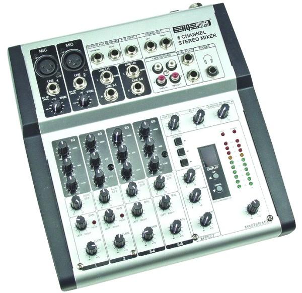Mischpult 6-Kanal Mixer Promix mit DIGITALEM HALL ECHO