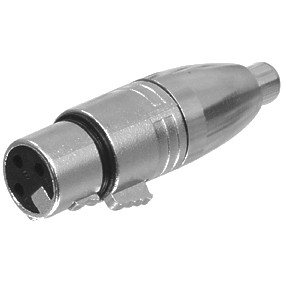 Adapter XLR Kupplung 3pol auf Cinch-Kupplung