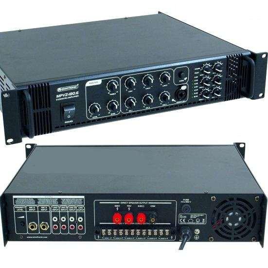 ELA Verstärker 240W 6-Zonen Regelung MPVZ180 6Eingänge 100V 4-8ohm