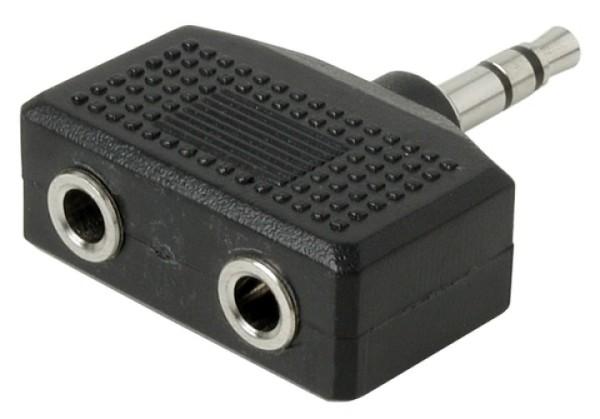 Klinkenadapter 3,5mm Stereostecker auf 2x Stereobuchse