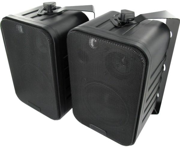 Lautsprecherboxen D5L3 2x60W mit Bügel Schwarz Paar