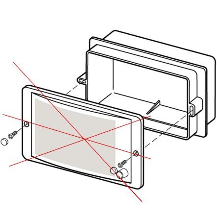 Unterputzgehäuse LBC3013/01 für LBC3011 Weiss