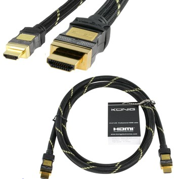 0,75m HDMI Kabel HighSpeed Textilmantel HighEnd