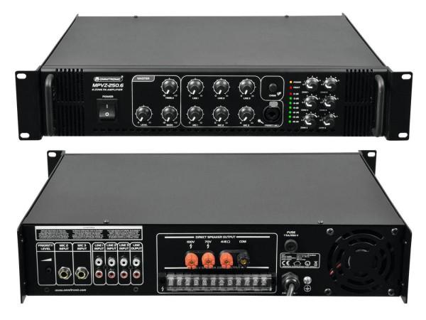 ELA Verstärker 6-Zonen 250W rms mit Mixer 19zoll