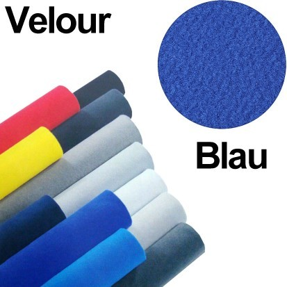 Velour Bezugsstoff 140x75cm Blau