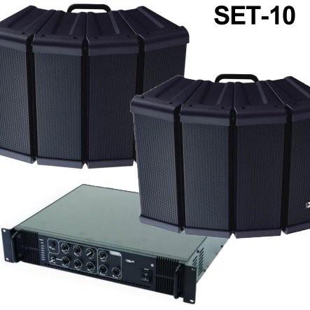 Freiflächen Lautsprecheranlage Set-10 (3-teilig)