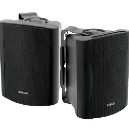 Lautsprecherboxen C50 2x80W mit Bügel --Schwarz--
