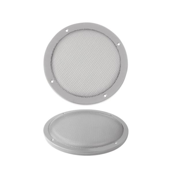 174mm Lautsprecherabdeckung Silber Gitter Rund
