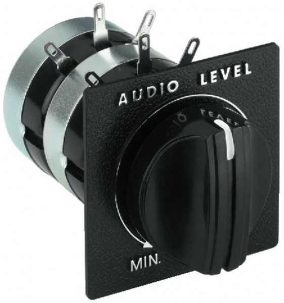 Lautsprecherregler STEREO 2x 10/100W 41x46mm Pegelsteller Lautstärkeregler
