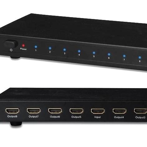 HDMI Verteiler 1xIn auf 8xOut aktiver HDMI Splitter