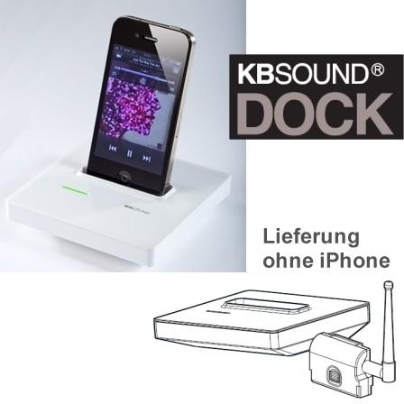 Zubehör KBSound DOCK zu 5Z passend zu iPhone Weiss
