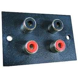 Cinchbuchse Einbaubuchsenplatte 4-fach Kunststoff
