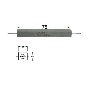 27ohm 27R Widerstand 17W axiale Drähte