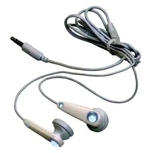 Kopfhörer Ohrhörer DX-91BL mit blauen SWAROVSKI Kristallen
