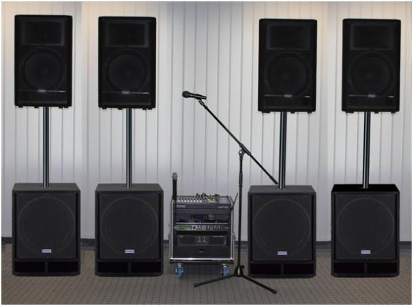 Musikanlage CSS-2001 komplette Beschallungsanlage