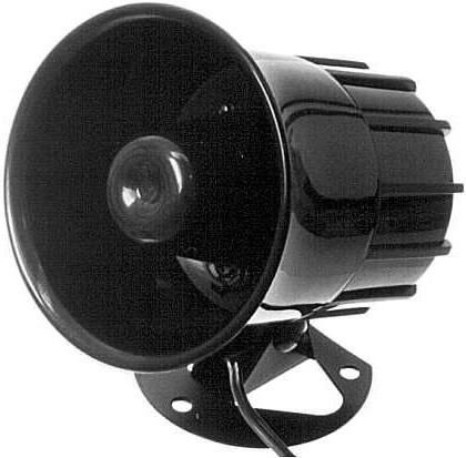 12V Sirene 12V Hornsirene 20W extrem laute Sirene Signalgeber Alarmgeber