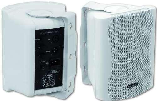 Aktiv Lautsprecher 2x80 Watt mit Montagebügel MO50A Weiss