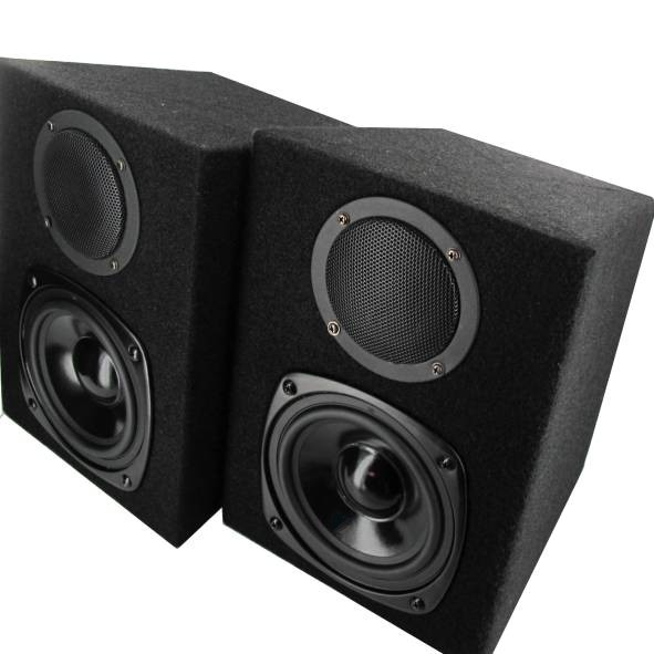 Boxen Lautsprecherboxen 2x120W Filzbezug