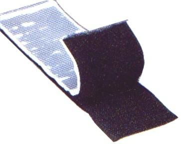 0,5m Klettband 50mm breit Schwarz