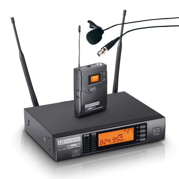 Funkmikrofon Set Empfänger mit Ansteck Mikrofon und Taschensender Belt Pack LDWS1000G2BPL
