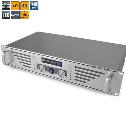 PA Verstärker Endstufe 2x120W ProAmp 19zoll Stereo Verstärker