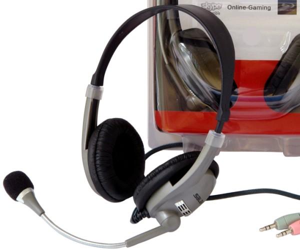 Headset Kopfhörer mit Mikrofon und Lautstärkeregler