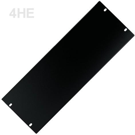 4HE Blende Rackblende Stahl 483x176mm Schwarz